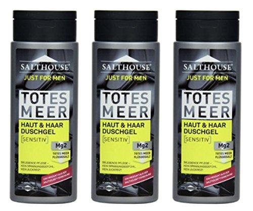 Salthouse Murnauer Just for Men Haut & Haar Duschgel, 3er Pack (3 x 250 ml)