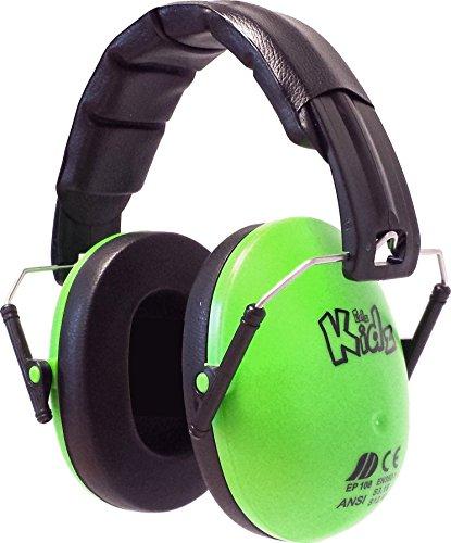 EDZ Kids Paraorecchie di sicurezza di protezione acustica, Verde