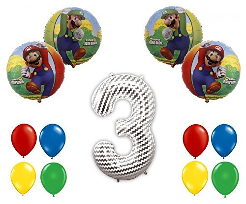 Super Mario Bros 3rd Balloon Decoration Kit by Party Supplies by Party Supplies