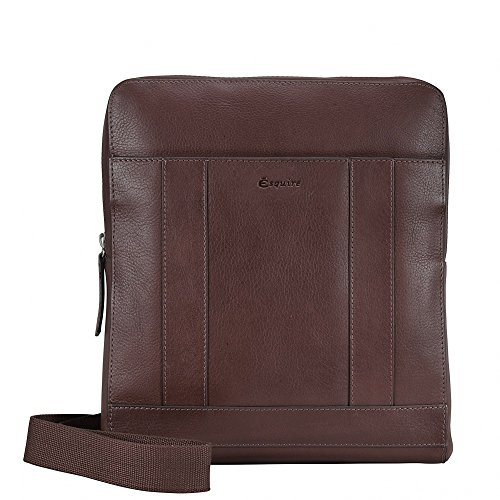 Esquire Vienna Sac bandouliére I cuir 24 cm mocca