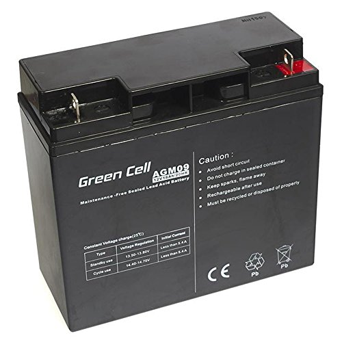 Green Cell Batteria AGM (12V 18Ah VRLA Faston F2)