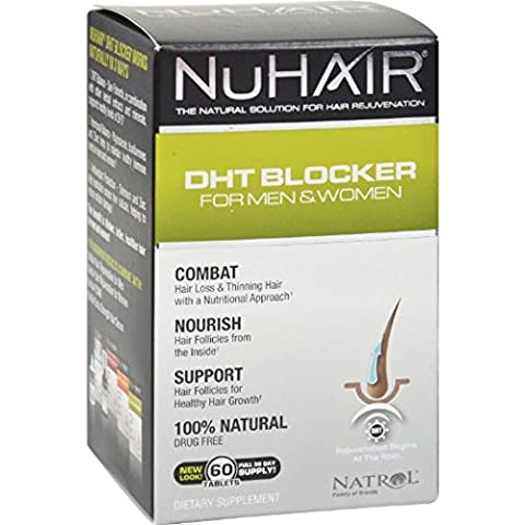 Natrol Nu Hair - DHT Blocker For Men and Women 60 Tabs