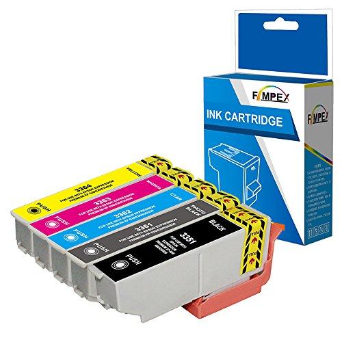 Fimpex Compatibile Inchiostro Cartuccia Sostituzione Per Epson XP-530 XP-540 XP-630 XP-635 XP-640 XP-645 XP-830 XP-900 33XL (Nero/foto-Nero/Ciano/Magenta/Giallo, 5-Pack)