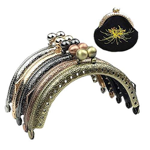 Guo Fa 5x Mix Farbe 8,5cm Metall Geldbörse Rahmen Tow Ball Kiss Verschluss für Pures Griff für Tasche Nähen Craft Tailor Kanalisation -