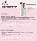 Arzet Painless Facial Hair Remover Machine For Women with Sensor Light - Upper Lip, Chin, Eyebrow Trimmer Shaver (Free Battery Included)