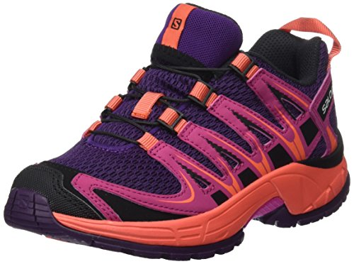 Salomon Kinder XA Pro 3D Trailrunning/Outdoor-Schuhe, Lila (Cosmic Purple/Deep Dalhia/Coral Punch), Gr. 37 (Pro Schuh Xa Salomon)