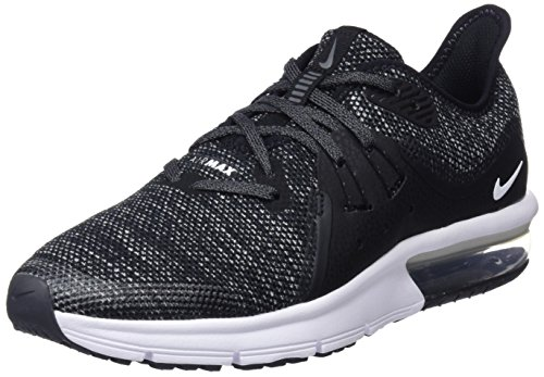 NIKE Air Max Sequent 3 (GS), Chaussures de Gymnastique garçon, Noir (Black/White/Dark Grey 001), 39 EU