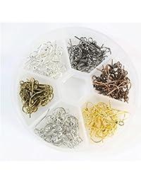 Crochets d'oreilles Accessoire boucles d'oreilles en Fer (1 boite de 120 pièces de couleur Multicolore)