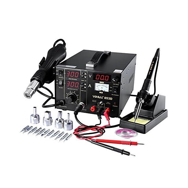 Estacion de soldadura digital SMD Kit del Soldador Eléctrico con pistola