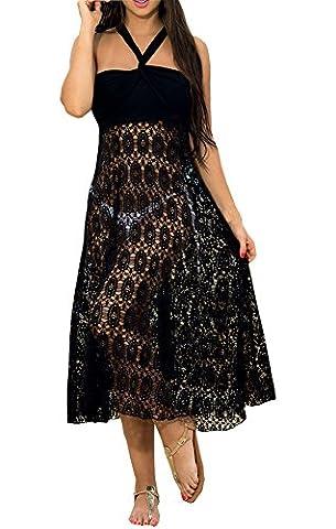 WOW CLOTHES - Maillot de bain deux pièces - À fleurs - Femme Noir Noir