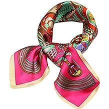 f837da435418 Helan femmes Réel Soie Naturelle 53cm X 53cm petits foulards de soie carrés