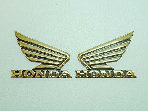 90x70mm Gold Flügel Motorrad Abzeichen Emblem Motorrad Kraftstofftank Aufkleber Sticker