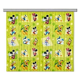 AG Design Disney Mickey Mouse Kinderzimmer Gardine/Vorhang, 2 Teile Stoff Multicolor 180 x 160 cm