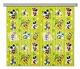 AG Design Disney Mickey Mouse Kinderzimmer Gardine/Vorhang, 2 Teile, Stoff, Multicolor, 180 x 160 cm