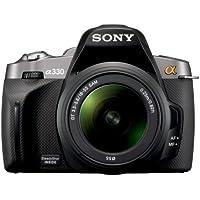 """Sony DSLR-A330L Appareil photo reflex numérique 10,2 Mpix Ecran 2,7"""" Stabilisé Objectif 18 55 mm Noir"""