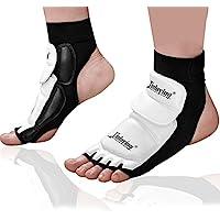 Xinluying Almohadilla Piel Tobillo Pie Protector Gear para MMA UFC Boxeo Taekwondo Artes Marciales Formacion Sparring Kid Adulto XL