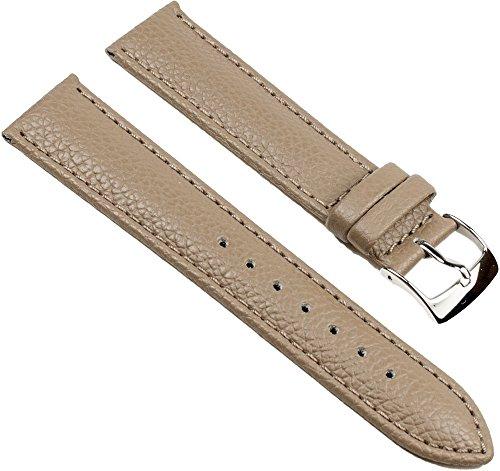Eulit Fancy Classic Ersatzband Uhrenarmband Rindsleder Band Schlamm 25464S, Stegbreite:16mm