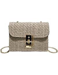 Longay - Bolsa de hombro para mujer, con cadena de lana