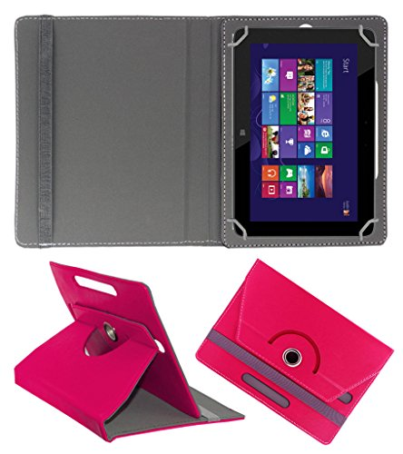 ACM ROTATING 360° LEATHER FLIP CASE FOR HP OMNI 10 TABLET STAND COVER HOLDER DARK PINK  available at amazon for Rs.189