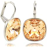 Ohrringe mit SWAROVSKI ELEMENTS - Farbe Silber Light Peach - Etui - Made in Germany
