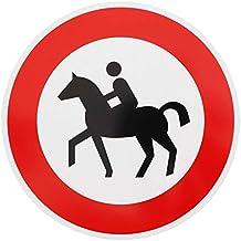 Verkehrszeichen Achtung Vorsicht Reiter Verkehrsschild Schilder Pferd Warnschild