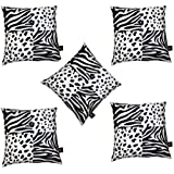 Lushomes Animal Themed Car Pillow Set ( 12 X 12 Inch, Set Of 5, Direct Filled)