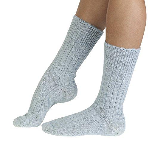 Sarah women's extra warm Alpaca bed socks in blue   English made by J Alex Swift