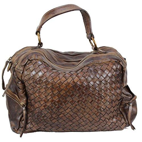 BOZANA Bag Marie moro sheep Italy Designer Damen Handtasche Schultertasche Tasche Schafsleder Shopper Neu - Prada Shopper Tasche