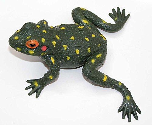 Trendy Stretch Frosch 13x10 cm olive Gummidesign Spieltier Gummitier spielen+sammeln Mitbringsel (Schwertfisch Kostüme)