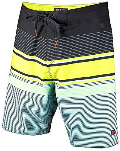 0c63fc771e Cova uomo Tidal High performance Board shorts, Uomo, Black/Lime