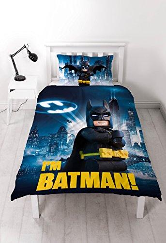 LEGO - Juego de funda de edredón individual de Batman La Lego...