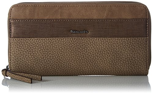 Tamaris Damen Kareena Big Zip Around Wallet Geldbörse, (Brown Comb.), 2 x 10 x 19,5 cm (Zehn Zip-around Damen Wallet)