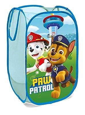 Paw Patrol Superdiver Cesta Plegable Infantil de Tela con Asas diseño Patrulla Canina 36x36x58 centímetros Color Azul
