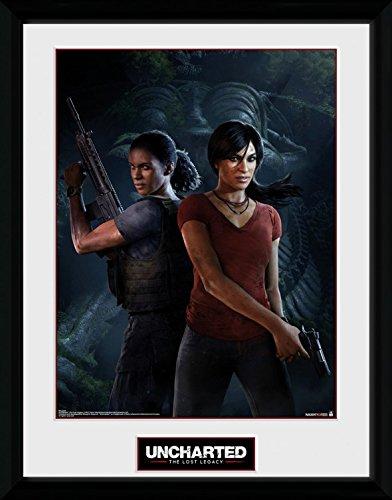 Preisvergleich Produktbild 1art1 106752 Uncharted - The Lost Legacy, Cover Gerahmtes Poster Für Fans Und Sammler 40 x 30 cm
