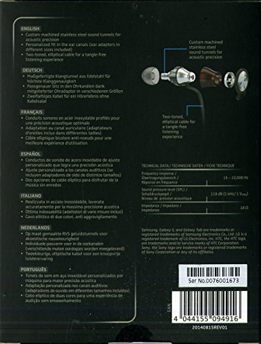d06d9239c23 Sennheiser Momentum in-Ear G Black - Auriculares con Cable para móvil (Control  Remoto Integrado, Compatible Entre Otros con Samsung Galaxy), Negro y Rojo