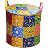 RED HOT Designer Large Foldable Round Laundry Basket