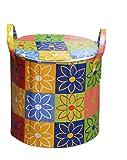 RED HOT Designer Large Foldable Round Laundry Basket