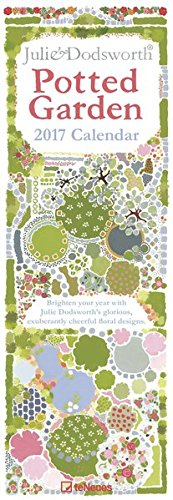 2017 Julie Dodsworth's Potted Garden Slim Calendar - teNeues - 14.5x42cm