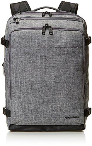 Amazonbasics - zaino da viaggio compatto, per il fine settimana, grigio