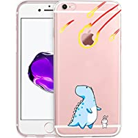 iPhone 6/6s Case, Yoowei Ultra Slim Crystal Clear Premium Flexible Soft Silicone Gel TPU Skin Cute Cartoon Protective Cover for iPhone 6/6s, Dinosaur & Rabbit