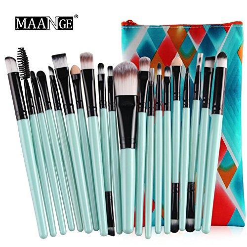 Make-up Pinsel Set Profi Foundation Lidschatten Concealer Kosmetik Werkzeuge Make-up Werkzeug 20Stück mit Kosmetik Fall -