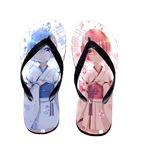 Bromeo Life in a different world from zero Anime Unisexe Flip Flops Tongs 805