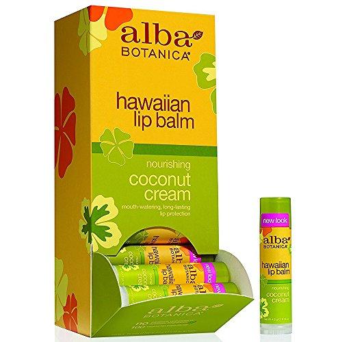 ALBA BOTANICA LIP BALM,COCONUT CREAM, .15 OZ by Alba Botanica - Alba Botanica Coconut Lip Balm