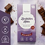 Xucker Vegane Edel-Zartbitterschokolade mit Kakaokeks, 100 g