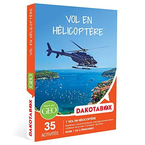 DAKOTABOX - Vol en hélicoptère - Coffret Cadeau Sport & Aventure - 1 vol en...