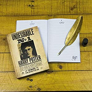 HARRY POTTER- Cuaderno DIN A5 Indeseable No. 1, (Elbenwald PP3859HPTX)