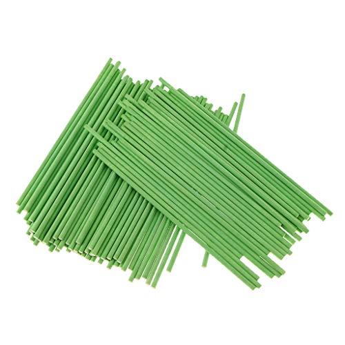 P Prettyia 100pcs Papier Sticks Stiele Pop für Lutscher Cake Schokolade Süßigkeiten usw. - Grün (Lutscher Grün Rosa Und)