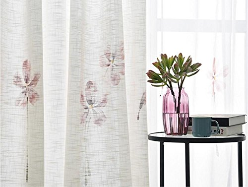 Tende A Fiori Per Camera Da Letto : Decorazione moderna in campagna fiori dipinti a mano tende a