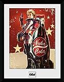 1art1 100303 Fallout - 4, Nuka Cola Gerahmtes Poster Für Fans Und Sammler 40 x 30 cm