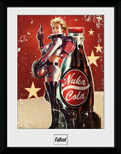 Preisvergleich Produktbild 1art1 100303 Fallout - 4, Nuka Cola Gerahmtes Poster Für Fans Und Sammler 40 x 30 cm